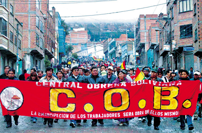BOLIVIE principale confédération syndicale du pays, la Centrale ouvrière bolivienne (COB) illus1 p36