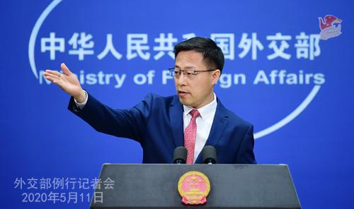 Conférence de presse du 11 mai 2020 PH1 tenue par le porte-parole du Ministère des Affaires étrangères Zhao Lijian W020200514431932204774