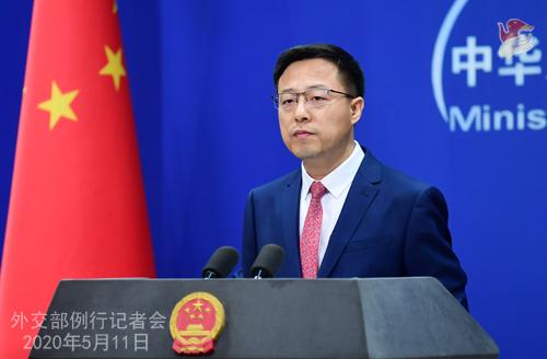Conférence de presse du 11 mai 2020 PH2 tenue par le porte-parole du Ministère des Affaires étrangères Zhao Lijian W020200514431932200668