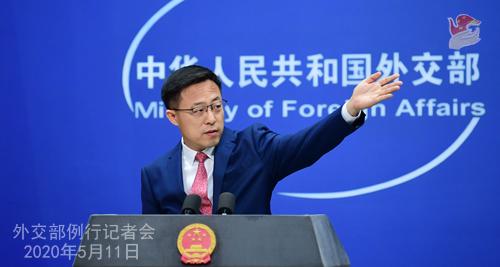 Conférence de presse du 11 mai 2020 PH3 tenue par le porte-parole du Ministère des Affaires étrangères Zhao Lijian W020200514431932216677