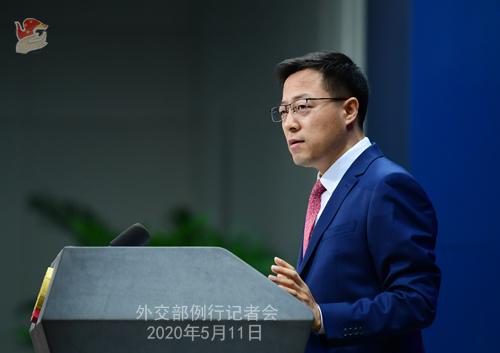 Conférence de presse du 11 mai 2020 PH4 tenue par le porte-parole du Ministère des Affaires étrangères Zhao Lijian W020200514431932224096