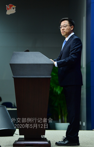 Conférence de presse du 12 mai 2020 PH6 tenue par le porte-parole du Ministère des Affaires étrangères Zhao Lijian W020200515449677877203