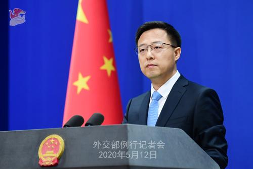 Conférence de presse du 12 mai 2020 PH8 tenue par le porte-parole du Ministère des Affaires étrangères Zhao Lijian W020200515449677898023