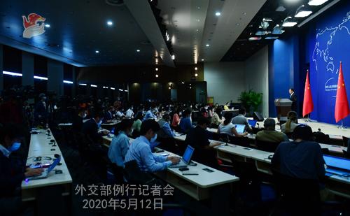 Conférence de presse du 12 mai 2020 PH9 tenue par le porte-parole du Ministère des Affaires étrangères Zhao Lijian W020200515449677891284