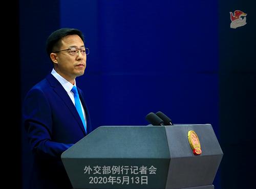 Conférence de presse du 13 mai 2020 PH 2 tenue par le porte-parole du Ministère des Affaires étrangères Zhao Lijian W020200517834726751616