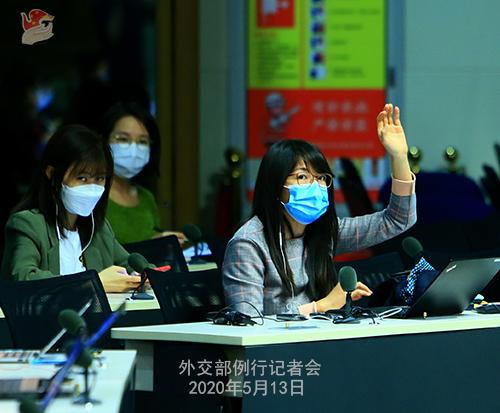 Conférence de presse du 13 mai 2020 PH 3 tenue par le porte-parole du Ministère des Affaires étrangères Zhao Lijian W020200517834726769664