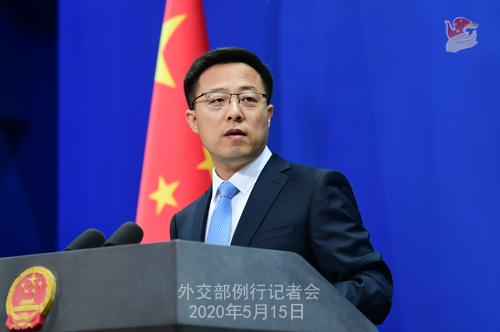 Conférence de presse du 15 mai 2020 PH 10 tenue par le porte-parole du Ministère des Affaires étrangères Zhao Lijian W020200520363617761362