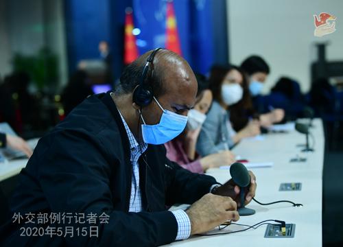 Conférence de presse du 15 mai 2020 PH 11 tenue par le porte-parole du Ministère des Affaires étrangères Zhao Lijian W020200520363617771833
