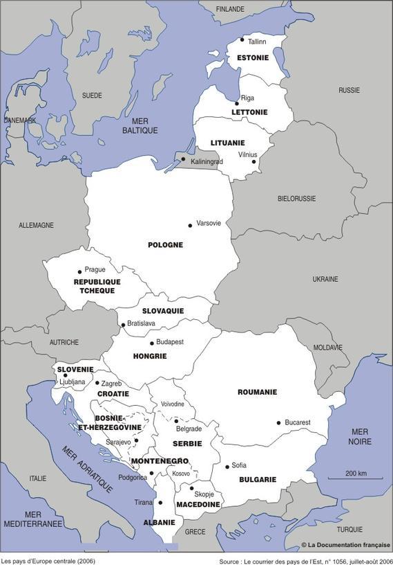 europe Centrale Les-pays-d-Europe-centrale-et-orientale-en-2006_large_carte