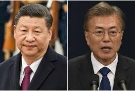 indexXi Jinping et le Président Moon Jae-in