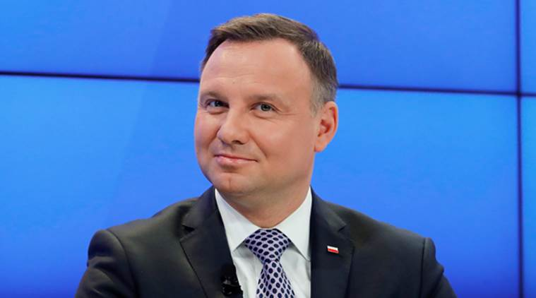 Poland's President Andrzej Duda attends the World Economic Forum (WEF) annual meeting in Davos