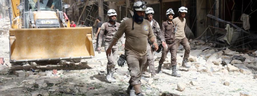 Les Casques blancs en Syrie (THAER MOHAMMED AFP) 10871427