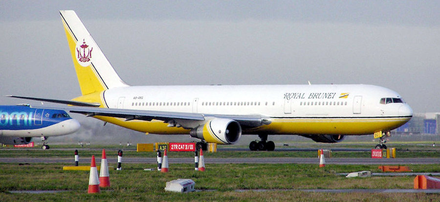 lhu9vol charter de Royal Brunei Airlines