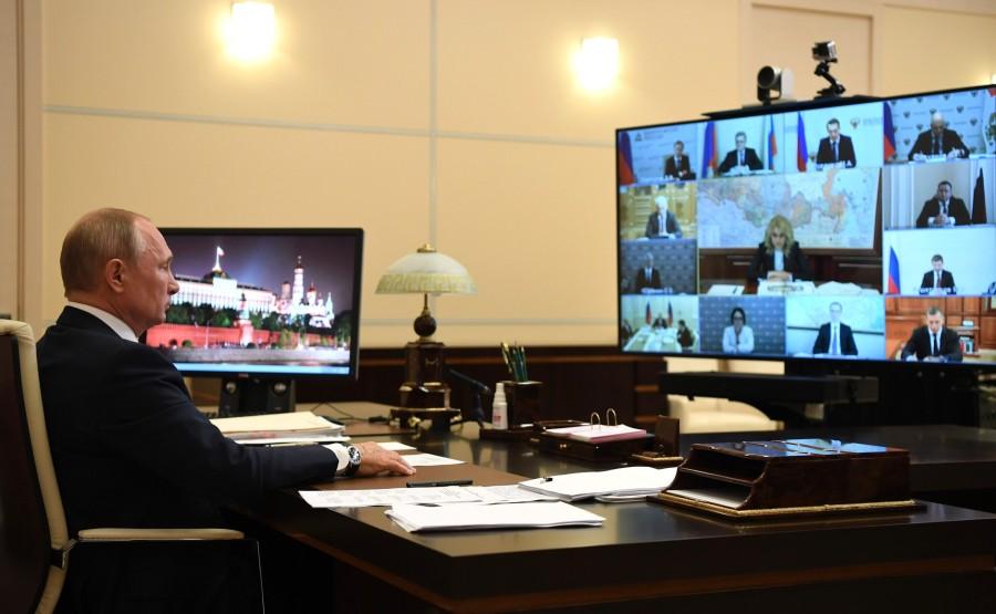 RUSSIE 11 MAI 2020 PH 4 SUR 6 Meeting on sanitary and epidemiological situation (via videoconference) 42GA80Wun0yhVfIRxUajhlrSEmYaroOj