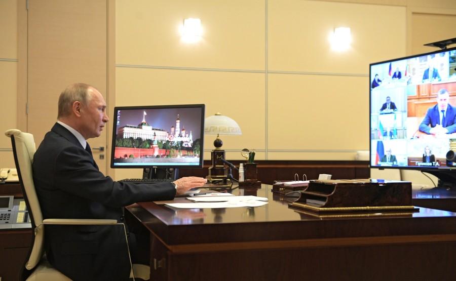 RUSSIE 15.05.2020 PH 1 SUR 2 Rencontre avec des membres gouvernementaux. SOT9DFiA0cEge6AVtRRMAetP6mHm547B