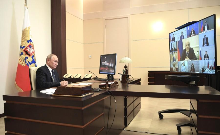 RUSSIE PH 03 SUR 5 Réunion sur la mise en œuvre des mesures de soutien économique et social (par vidéoconférence). yNKy2wEcdHJPuzakT0b2uYfWpAYlEWdR