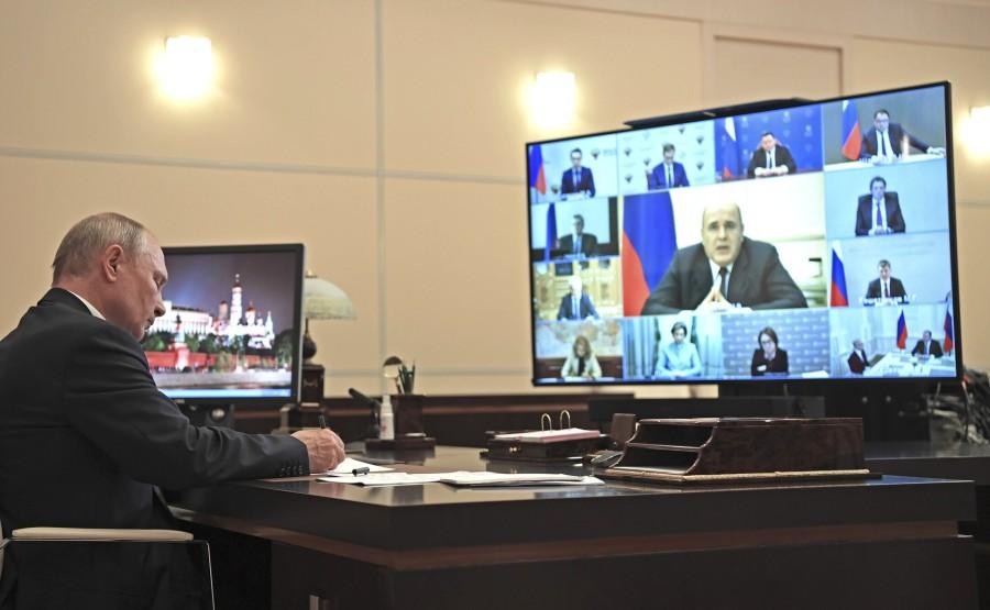 RUSSIE PH 04 SUR 5 Réunion sur la mise en œuvre des mesures de soutien économique et social (par vidéoconférence). NfBZOfmZUdS5AQVq76WYGAa0sFHB1qQl