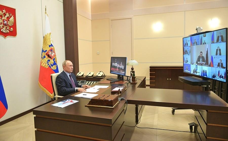 RUSSIE PH 3 SUR 3 LE 06.05.2020 Réunion sur la mise en œuvre de mesures de soutien à l'économie et à la sphère sociale. lLswJYmbUeedIOIyYwsAtWpbfn4kVYUg