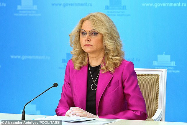 RUSSIE Vice-Premier ministre Tatayana Golikova 28303202-8311665-Russian_deputy_premier_Tatyana_Golikova_pictured_on_May_12_durin-a-39_1589293463847