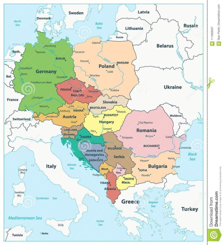 carte-politique-de-l-europe-centrale-111609037