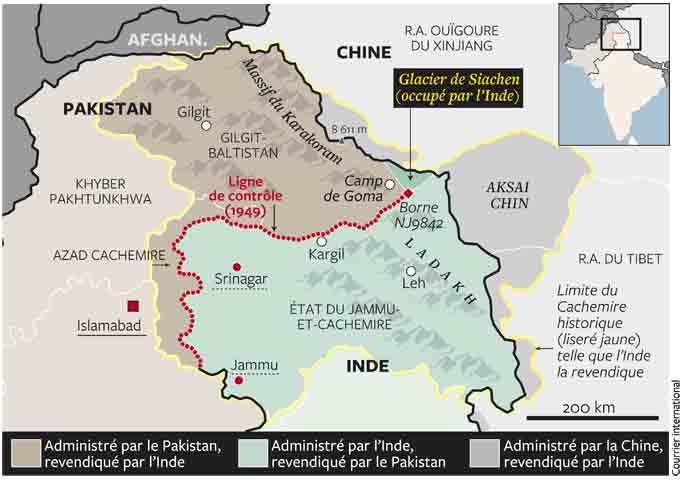 frontière indo-chinoise, dans la région du Ladakh glacier