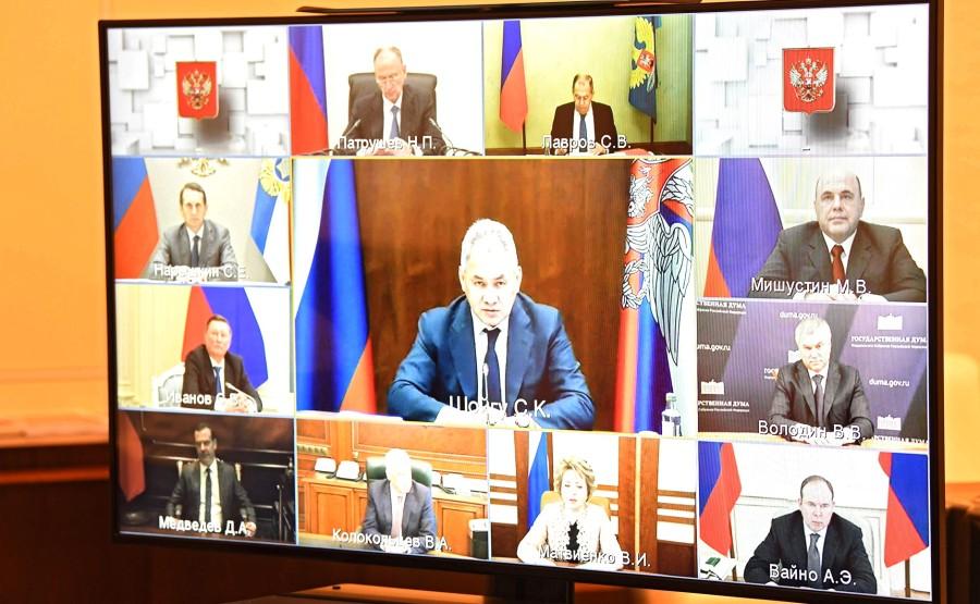 KREMLIN DU 11.O6.2020 PH2 SUR 4 Réunion avec des membres permanents du Conseil de sécurité (par vidéoconférence). jULrhOCc4ghuAaACNx6W7NjSCZuuNk5I