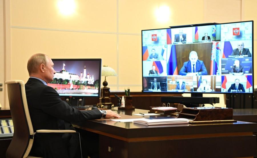 KREMLIN DU 11.O6.2020 PH4 SUR 4 Réunion avec des membres permanents du Conseil de sécurité (par vidéoconférence). QOqrW8X9SbYhQRHnCO2fDCt0uiiklnPd