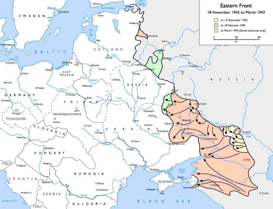 Les pertes de l'Armée Rouge sont terrifiantes. l'opération s'étake du 25 novembre au 20 décembre 1942. L'Armée Rouge comptabilise 70374 tués et 145300 blessés en un mois d Eastern_Front_1942-11_to_1943-03