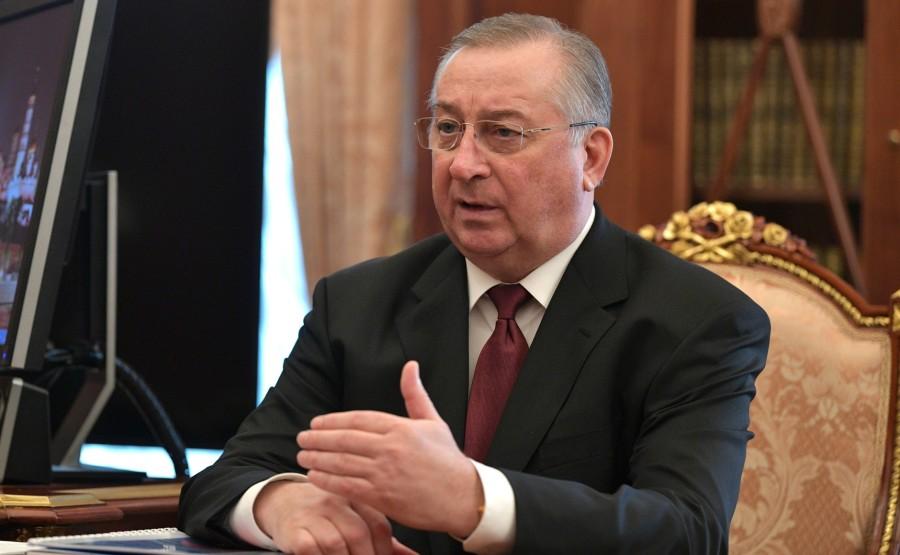 Lors d'une réunion avec le président de Transneft, Nikolai Tokarev. yg11MGwAAPSyIKpOkeZeqqoaHfrw6Bc7