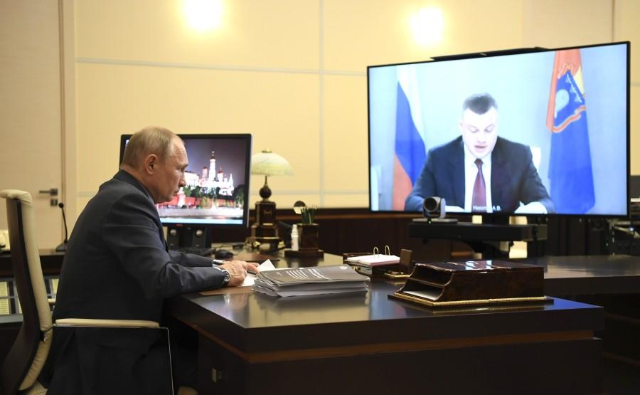 Réunion de travail 1 SUR 2 02.06.2020 avec le gouverneur de la région de Tambov, Alexander Nikitin, par vidéoconférence. Omy4AGuIMaeamH6ko1ER1lR4KRcqHnSx