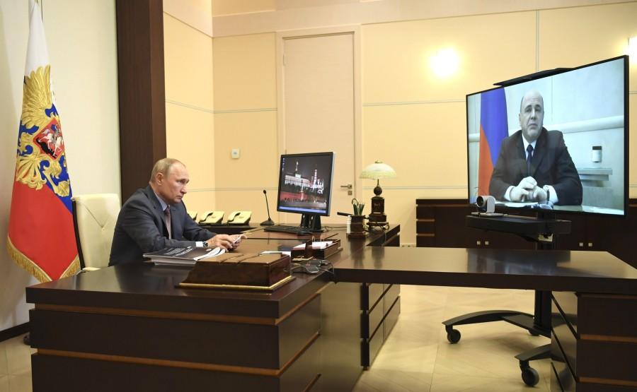 Rencontre 3 SUR 4 02.96.2020 avec le Premier ministre Mikhail Mishustin (par vidéoconférence). o7tsf73GZCmARs90clvFAAxzd2ybLRA7