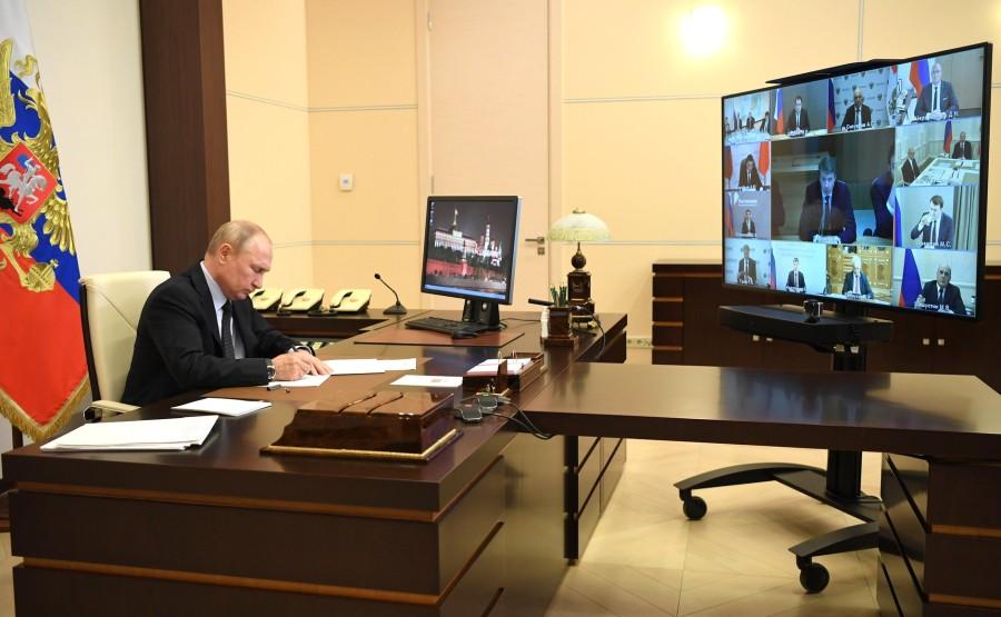 RUSSIE 10 JUIN 2020 3SUR 4 Lors d'une réunion (par vidéoconférence) sur le développement des technologies de l'information et des communications. yWhMfd4BMN03dKd8E31rZ1Q5DegcBiqA