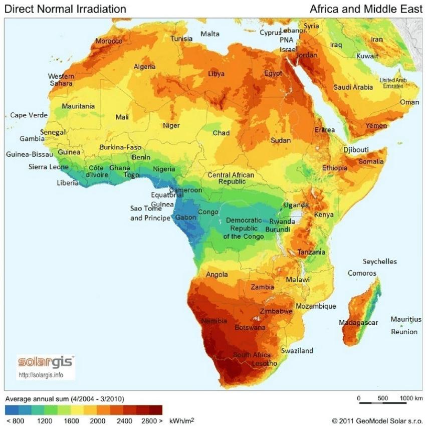Solar-map-of-Africa