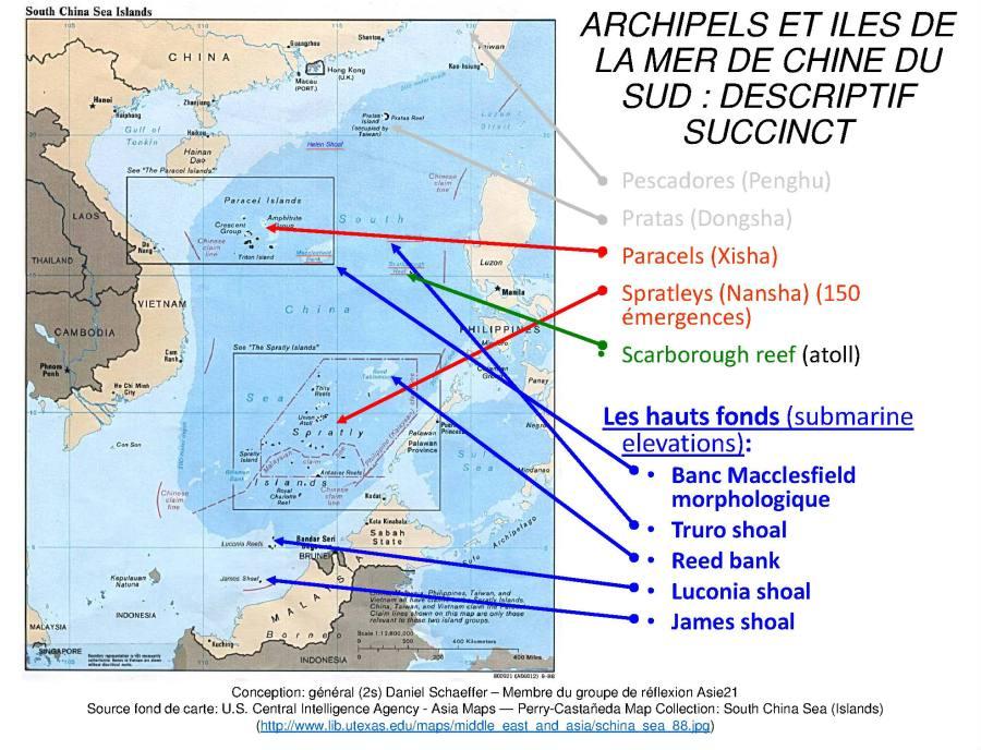 carte-1-archipels-et-iles-mer-de-chine-du-sud Les îles Xisha font partie du territoire chinois.