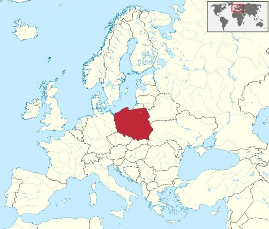 carte-de-pologne-de-l'europe