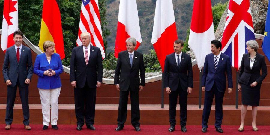 G7 de mai 2017, Taormina (Italie) - AP, A. Medichini ob_182bc0_g7-2017-flags
