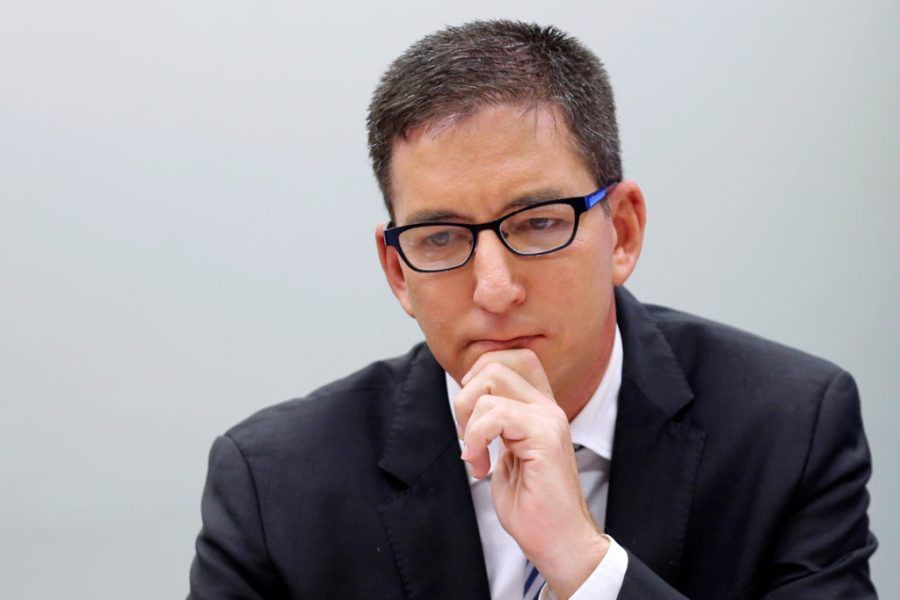 Author and journalist Glenn Greenwald attends a meeting of the human rights committee of the Chamber of Deputies in Brasilia
