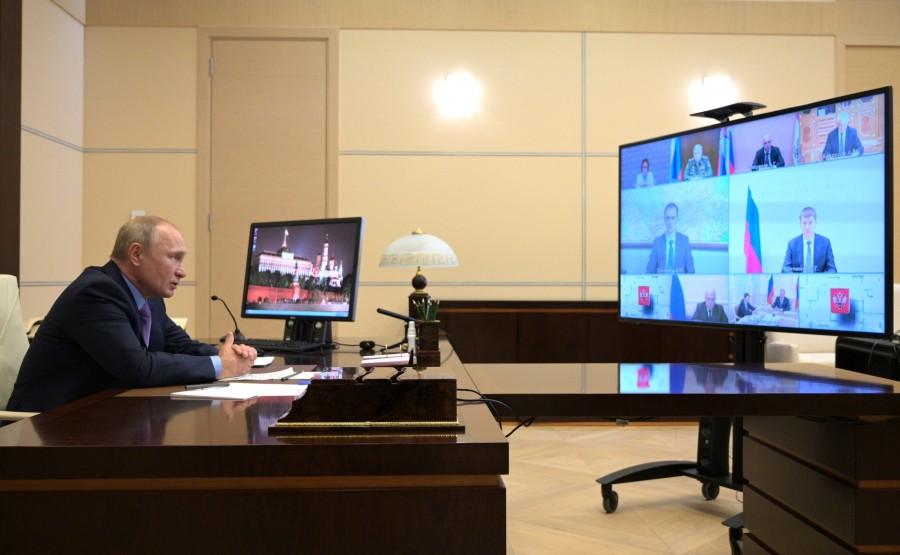 KREMLIN PH 1 W 3 16.07.2020 Réunion sur le budget fédéral pour la période de planification 2021 et 2022-2023 (par vidéoconférence). XE81WpWvJtXKShWRj31j9AxoirsTtbmo