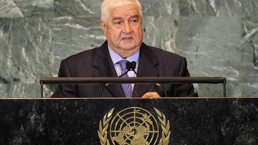 le ministre des Affaires étrangères Walid Mouallem unnamed