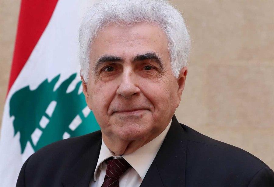 Nassif-Hitti le ministre des Affaires étrangères Nassif Hitti