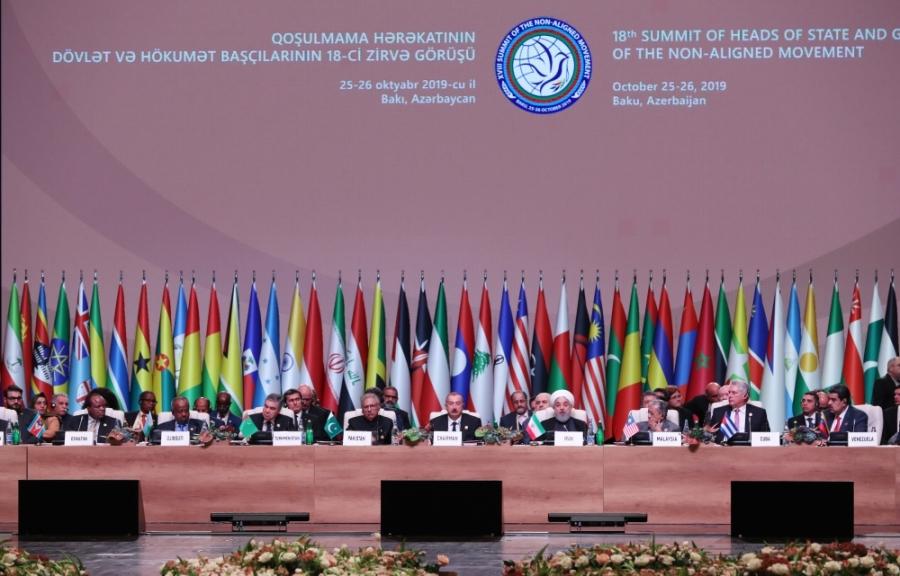 octobre 2019 à Bakou s'est tenu un sommet du Mouvement baku