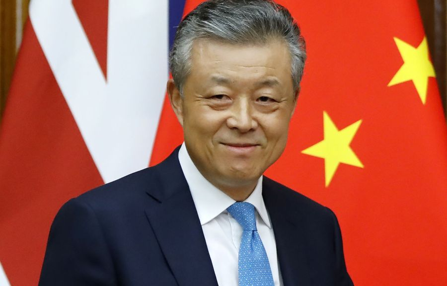 Photo Tolgaa Akmen Agence France-Presse L'ambassadeur de Chine à Londres, Liu Xiaoming image