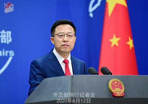 CFP 2 Conférence de presse du 12 août 2020 tenue par le porte-parole du Ministère des Affaires étrangères Zhao Lijian W020200817358967028996