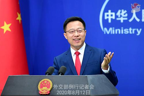 CFP 3 Conférence de presse du 12 août 2020 tenue par le porte-parole du Ministère des Affaires étrangères Zhao Lijian W020200817358967039990