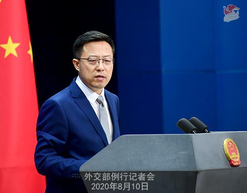 CHINE PH 3 Conférence de presse du 10 août 2020 tenue par le porte-parole du Ministère des Affaires étrangères Zhao Lijian W020200812718881840620