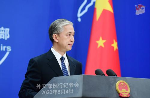 CHINE Q3 Conférence de presse du 4 août 2020 tenue par le Porte-parole du Ministère des Affaires étrangères Wang Wenbin W020200807361456215202