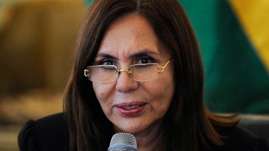 Karen Longaric, canciller de Bolivia. ABI 2020010115351663435