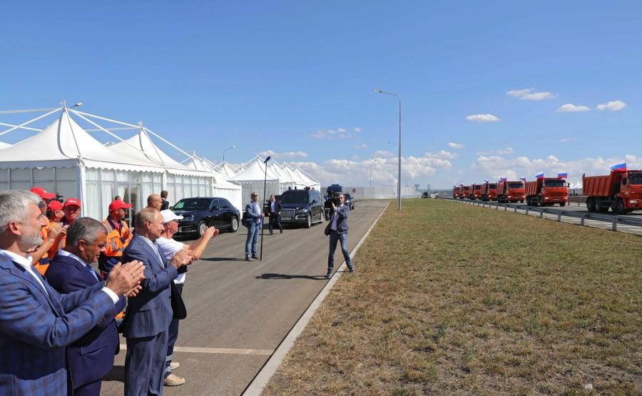 KREMLIN 4X4 DU 27.08.2020 Cérémonie de lancement de la circulation automobile sur les tronçons terminés de l'autoroute de Taurida. icLGsTwZPURHGwo0pehEGRzAod2LeN7h