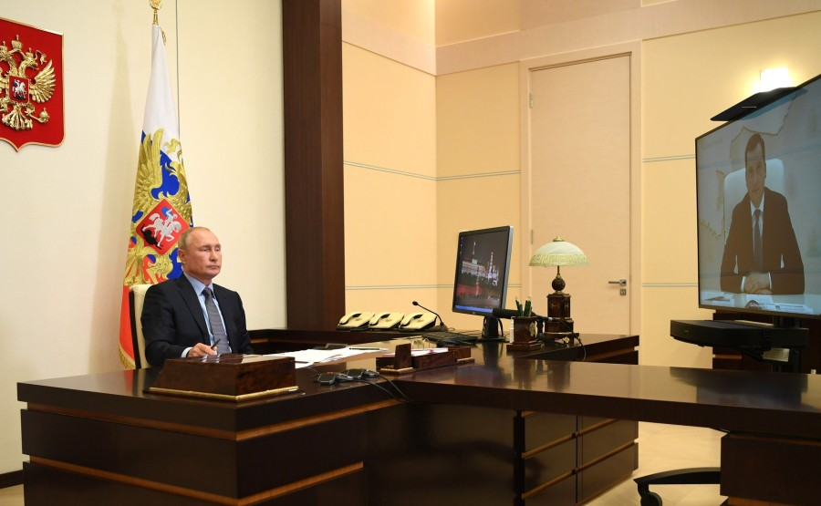 KREMLIN PH 3 X 3 DU 15.08.2020 Rencontre avec le gouverneur par intérim de la région d'Arkhangelsk Alexander Tsybulsky (par vidéoconférence). 7AmHJPGRlwxGQPOMGiAnxIXfQBHEj8iW