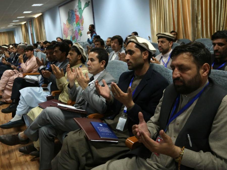 la Loya Jirga consultative, grande assemblée de hauts dignitaires d'Afghanistan, kaboul-m_3
